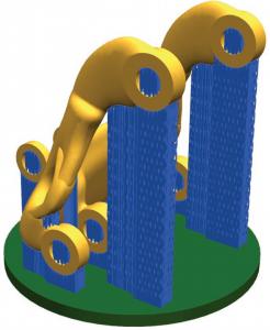 3D technikával nyomtatott alkatrész