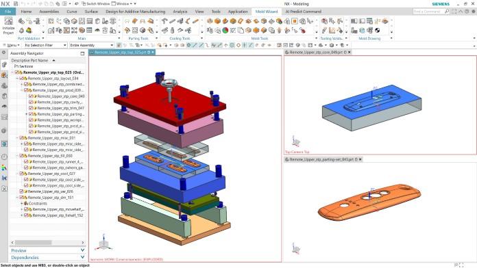 Fröccsöntőszerszám tervezés (NX Mold Designer)