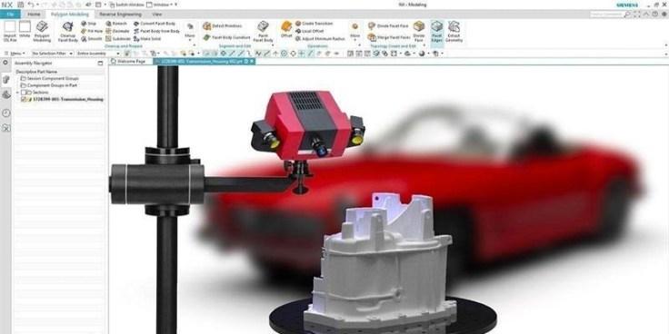 3D-s szkennelés feldolgozása, visszamodelezése (NX Scan to Part)