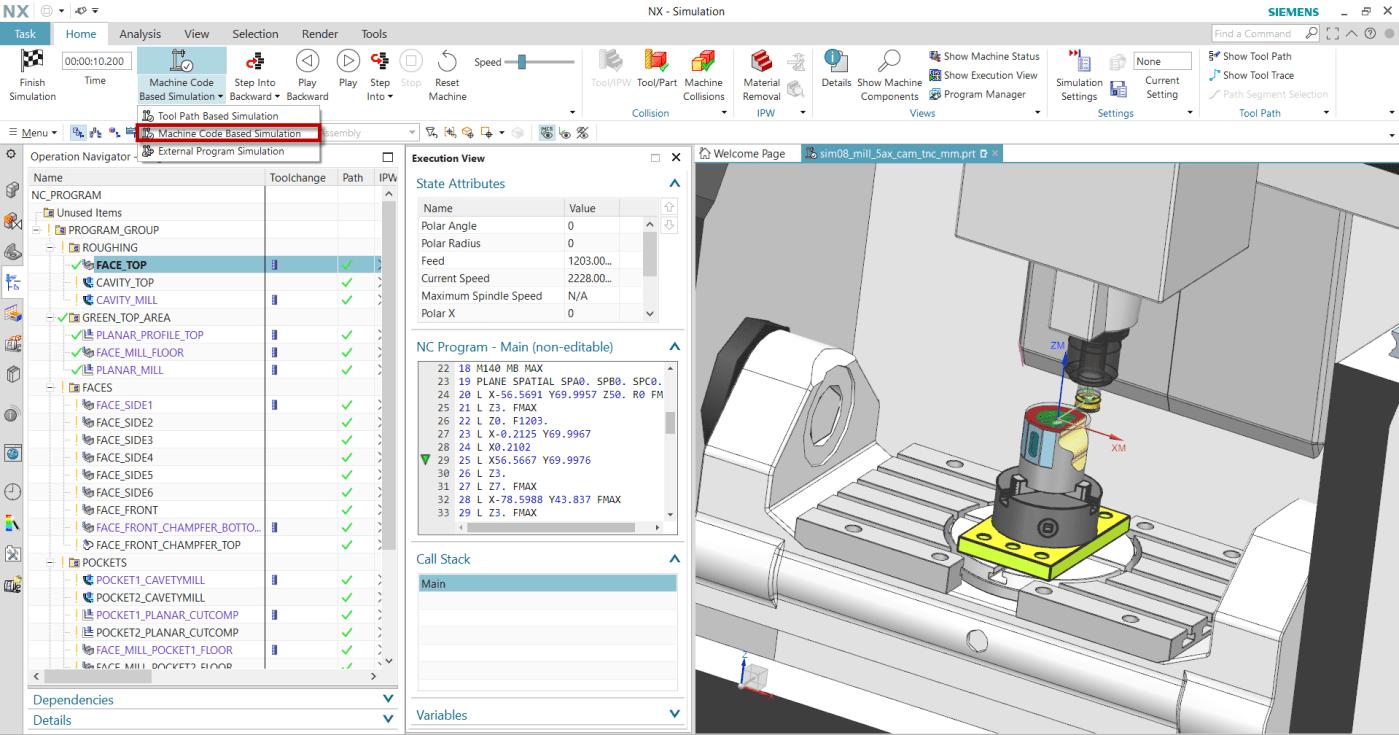 Szerszámgép szimuláció NX