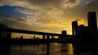 芝浦散歩。渚橋~五色橋の夕景がヤバかった