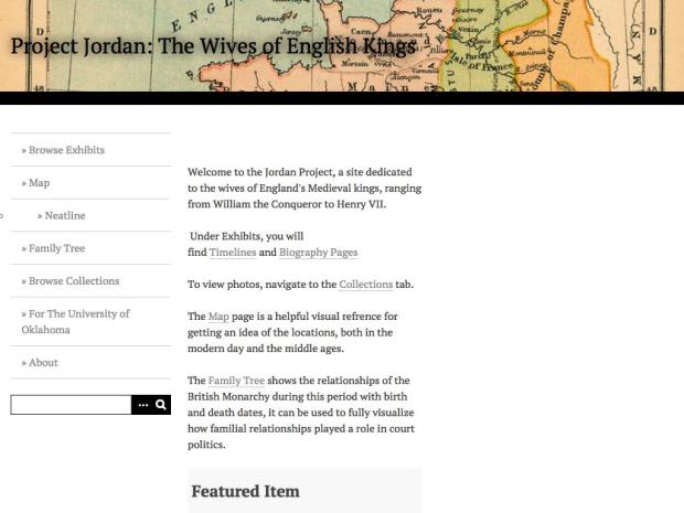 Screen shot of Project Jordan: The Wives of English Kings