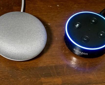 AIスピーカー Google Home Mini と Amazon Echo Dot をリビングに導入