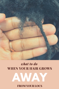 what to do when your hair grows away from your locs