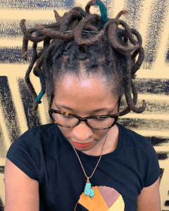 black woman with locs