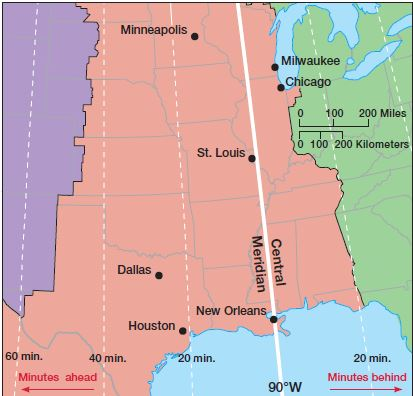Map Of Arizona Daylight Savings Time.Time Zones And International Date Line Upsc Digitally Learn