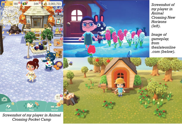 Collage of AC gameplay screenshots