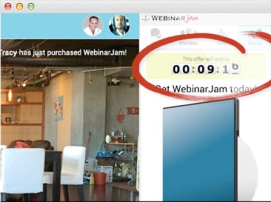Webinarjam sales urgency