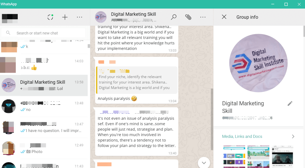 digital marketing skill insititute whatsapp group