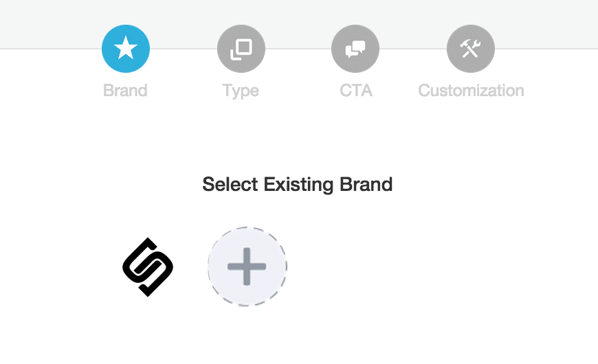 Sniply Select an existing brand orCreate a New Brand