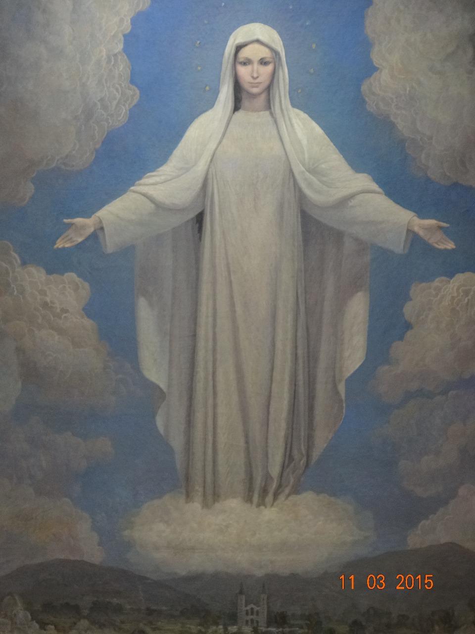 Imagen de Maria tal como la ven los videntes