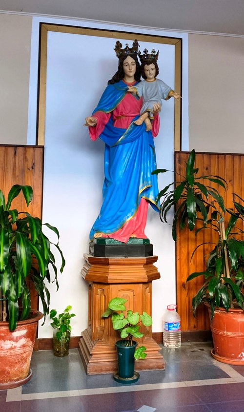 Blessed Virgin Mary near Father Office