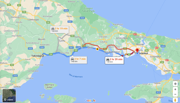 Cycling From Athens To Istanbul - Tekirdag - Istanbul Turkey