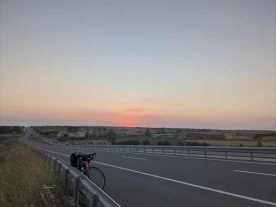 Cycling From Athens To Istanbul - Sunset outside of Kesan Turkey