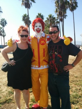 Venice Beach With Ronald McDonald