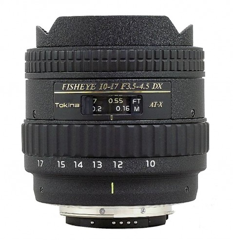 Tokina 10-17mm f/3.5 - 4.5 AT-X 107 AF DX Fisheye Zoom Lens