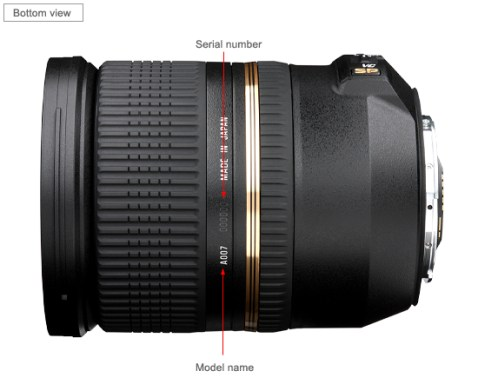 Tamron SP 24-70mm Di VC USD Lens_bottom