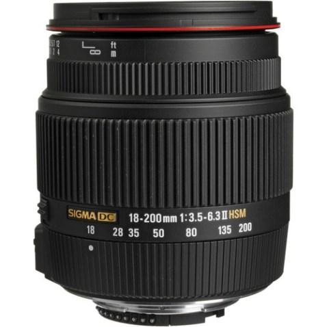 Sigma 18-200mm f:3.5-6.3 II DC OS HSM Lens