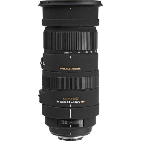 Sigma 50-500mm f:4.5-6.3 DG OS Lens