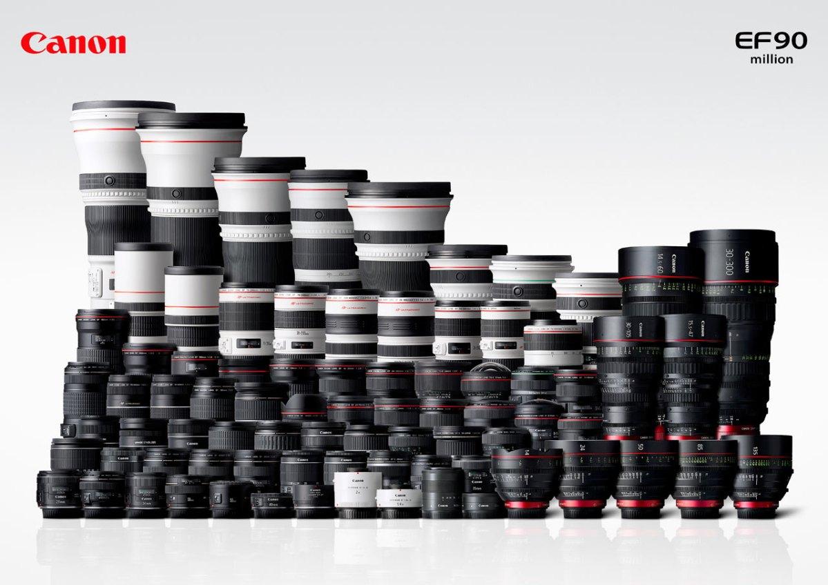 90 Million  CanonEF lenses
