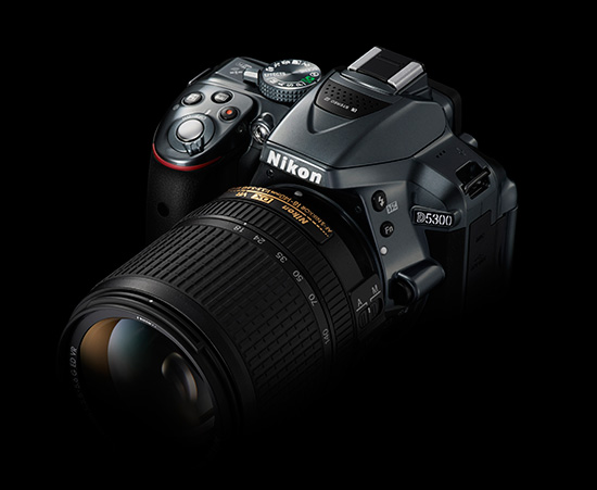 Nikon-D5300-DSLR-camera-grey