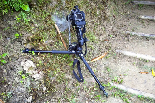 On location setup of the Spider Picture