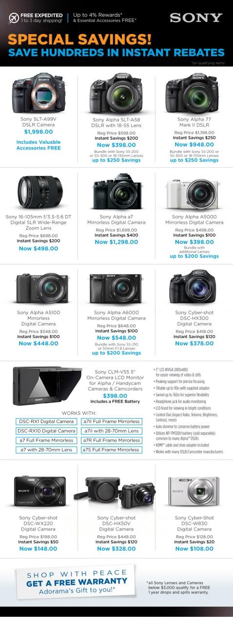 Sony Instant Rebates & Savings