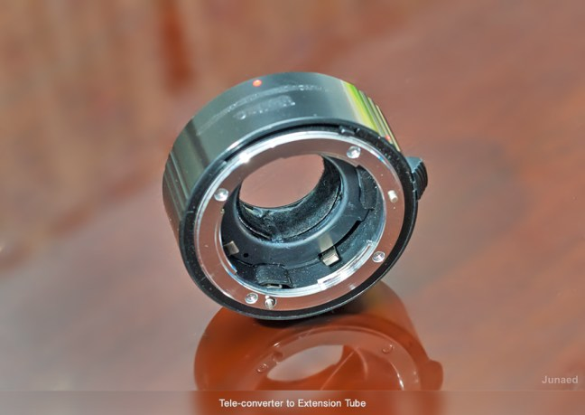 How to convert a Tele converter to an Extension Tube