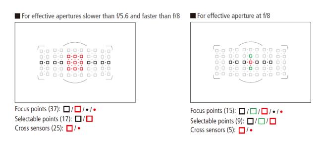 Nikon D5 Autofocus Point 01