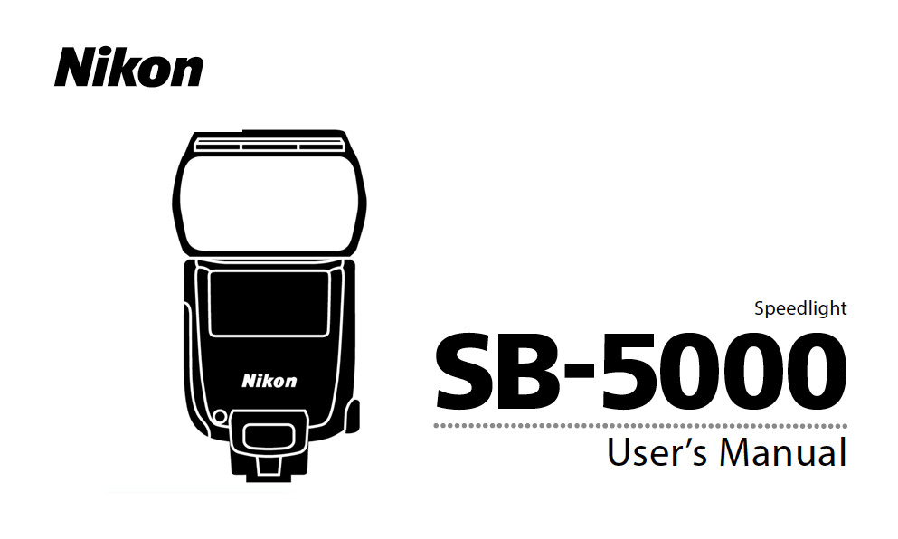 nikon sb 5000 speedlight instruction or user s manual available for rh digitalphotographylive com