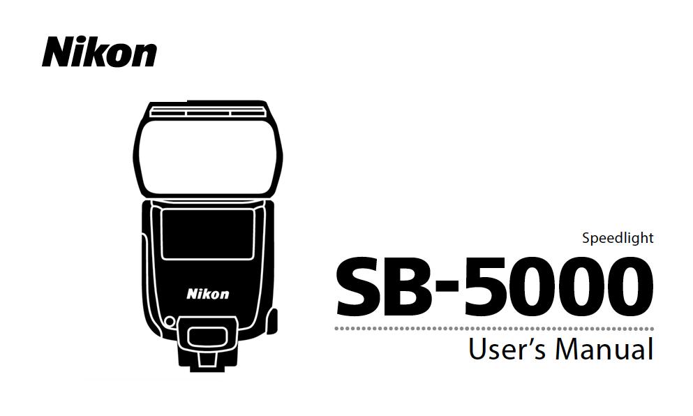 Nikon SB-5000 Speedlight Users Instruction Manual pdf
