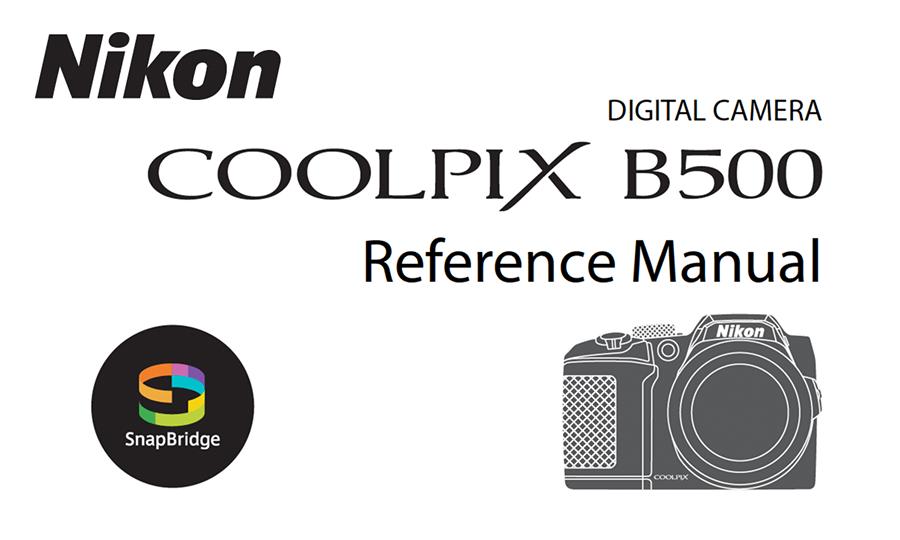 Nikon Coolpix B500 Manual