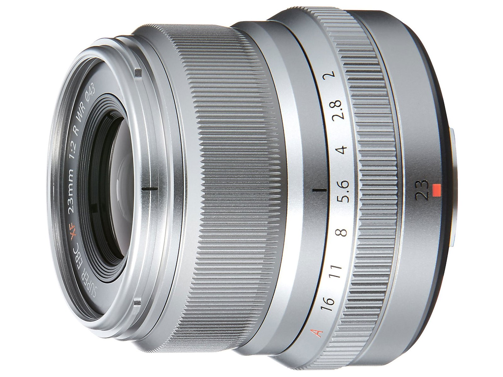 Silver Fujinon XF23mm F2 R Weather Resistant Lens