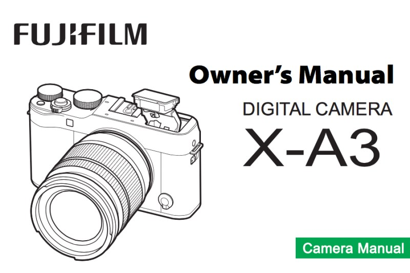 FUJIFILM X-A3 Owner's Manual