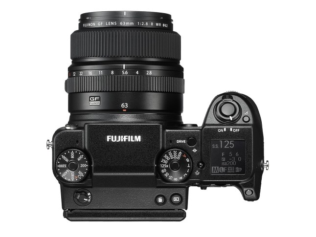 Fujifilm GFX 50S - top