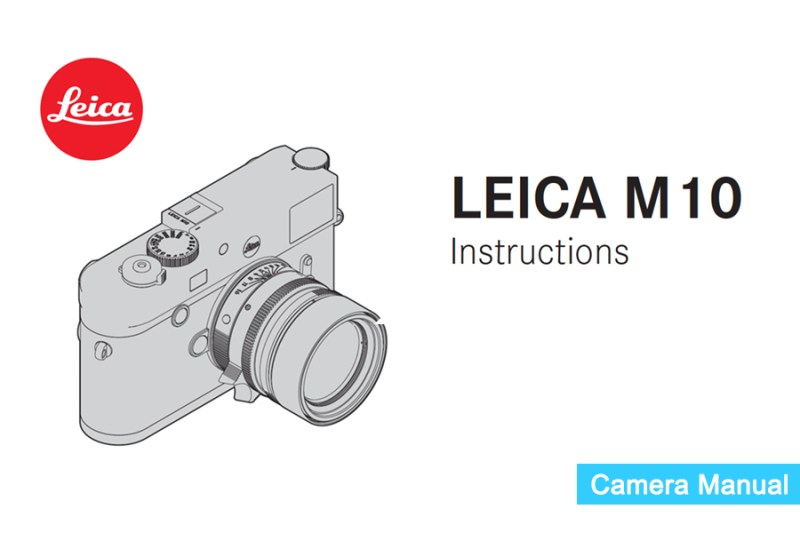 Leica M10 Instruction or Owner's Manual pdf