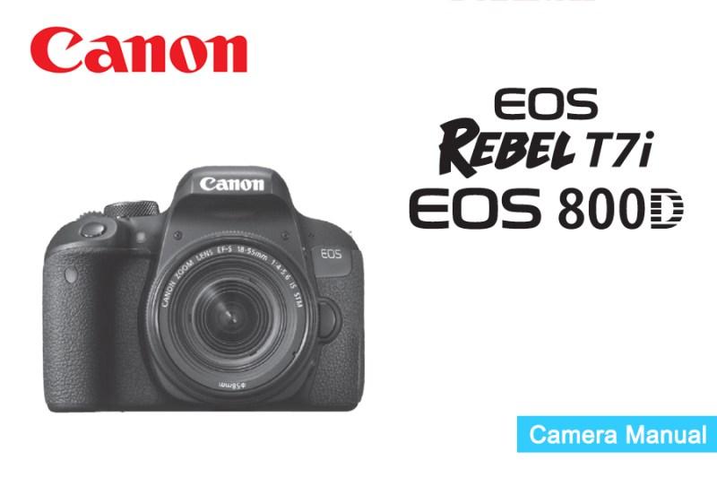 Canon EOS Rebel T7i 800D Manual pdf