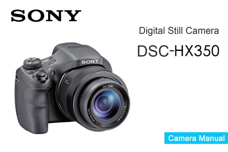 Sony Cyber-shot DSC-HX350 Manual Pdf