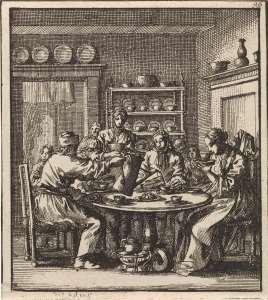 Jan Luyken Tea and coffy tool kit. Courtesey Rijksmuseum, Netherlands