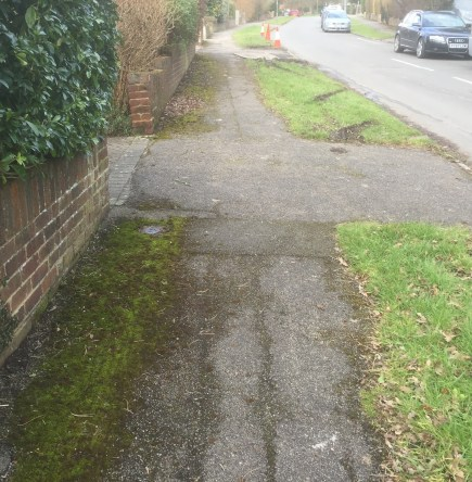 Brokes Crescent pavement before