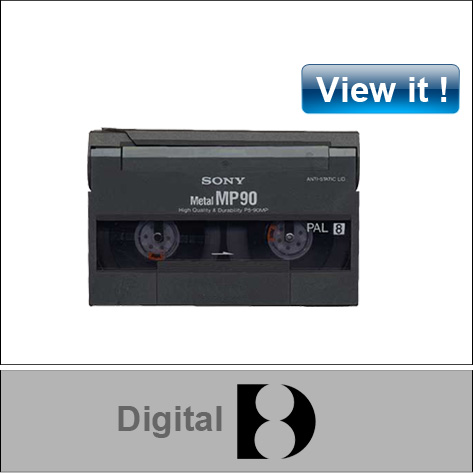 digital 8 mm video tape conversion