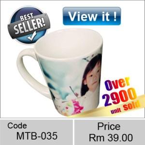 Ceramic Cone shaped white latte Mug