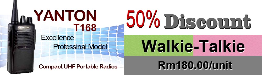 Yanton Walkie-Talkie 50 percent discount in Penang