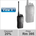 Professional walkie talkie UHF / VHF