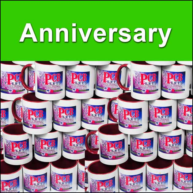 High quality anniversary events mugs