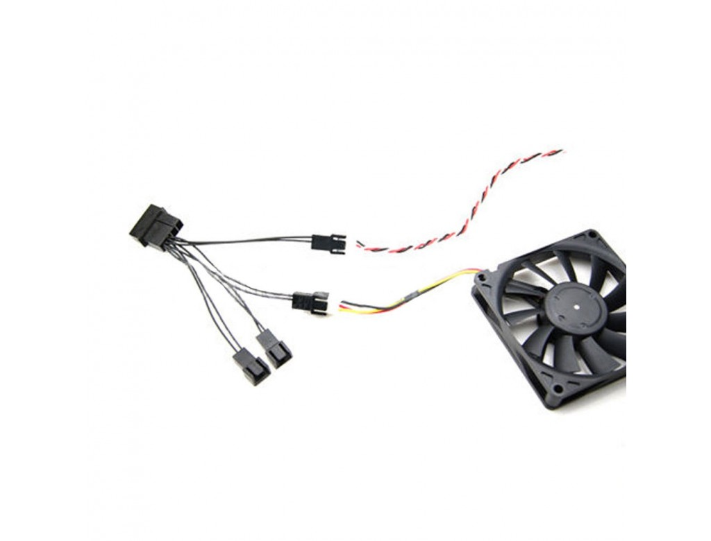 Molex To 4 Way 3 Pin Fan Power Splitter
