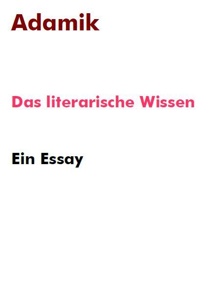 E-book Veröffentlichung: Das literarische Wissen