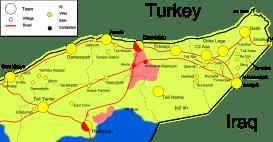 Die Situation während der Al Hasaka Offensive