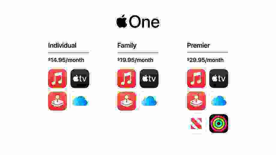 Apple Müzik, TV Plus, Arcade hizmetlerini birleştiren Apple One, üç farklı plan ve fiyat seçeneği ile sonbaharda geliyor