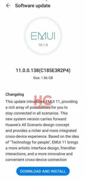 Huawei Mate 20, EMUI 11 güncellemesini almaya başladı